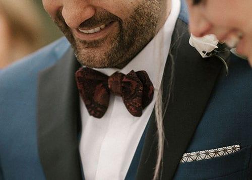 Papillon da cerimonia per lo sposo, testimone ed invitato.